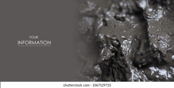 Therapeutic mud clay black macro pattern photo for background
