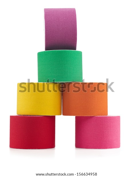 Therapeutic Self Adhesive Tape Aches Tension Stock Photo