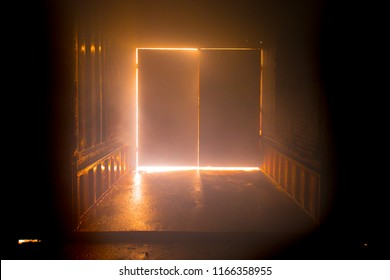 There is a backfire in another room with closing door.