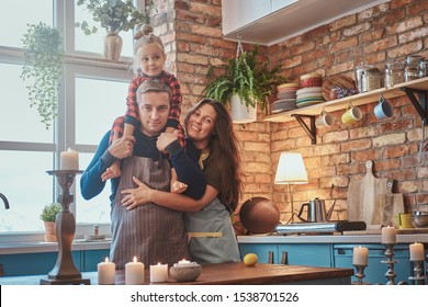 There are beautiful cozy kitchen and happy family is starting their day here.