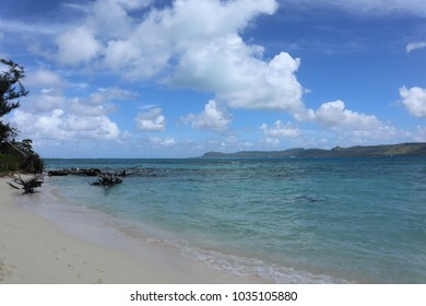 There is blue sky, sunny day in Saipan.