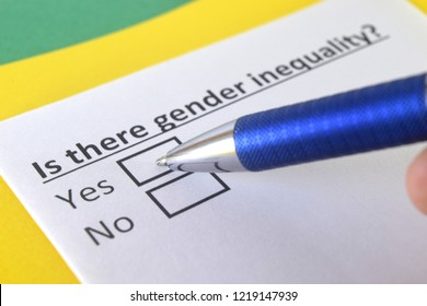 Is there gender inequality? yes or no