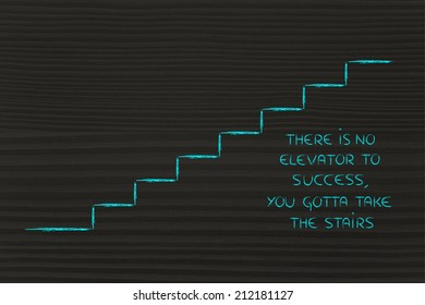 there is no elevator to success, take the stairs