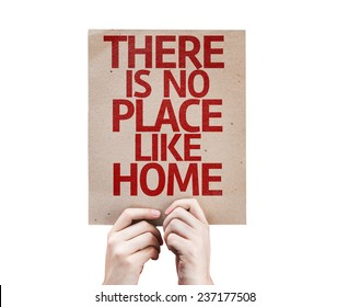 There Is No Place Like Home card isolated on white background
