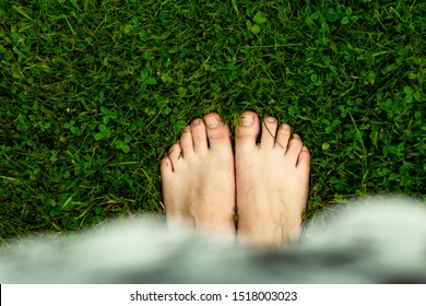There is nothing better to walk on the wet lawn, after the rain, barefoot.