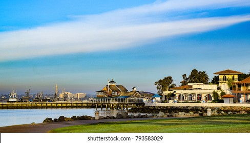 There are plans to replace Seaport Village in San Diego with a new project so this view will change in the future.