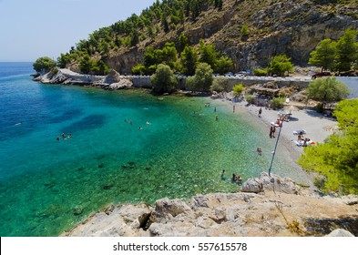 Therma beach in Kalymnos, Greece