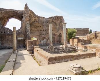 Thermal baths with Heliocaminus in Villa Adriana, Tivoli, Italy