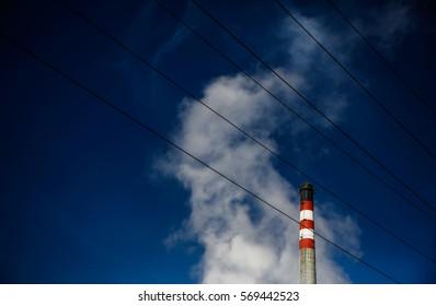 thermal energy plant chimney