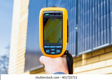Thermal imaging inspection of solar panels on the home
