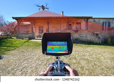 thermal insulation control of a house with a drone