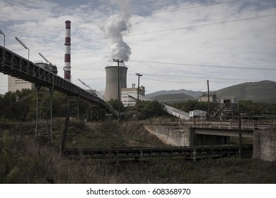Thermal Power factories at the city of Megalopolis, Greece on the 25th of September 2014.