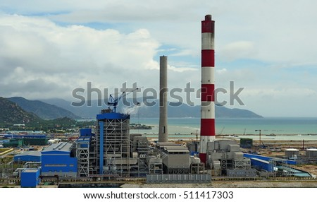 Thermal Power Plant Coal Fired Boiler Stock Photo (Edit Now ...