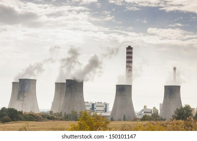 Thermal power station on coal - Poland.