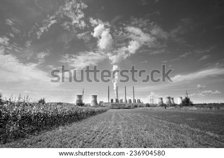 e0acbe36 Thermal Power Station Turceni Romania Black Stock Photo (Edit Now ...