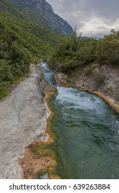 thermal spring in the mountains Greece
