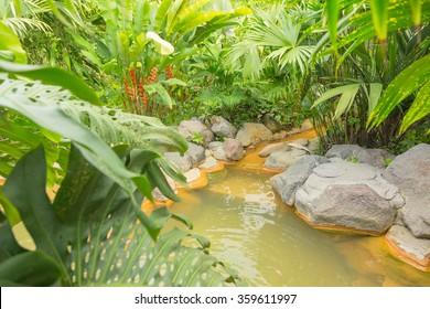 Thermal springs in Costa Rica