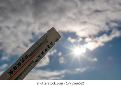 Thermal Thermometer against the scorching sun