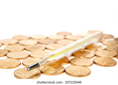 Thermometer and coin