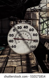 Thermometer in Garden Greenhouse