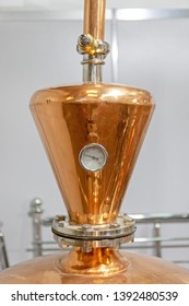 Thermometer Gauge at Copper Distilling Still Brewery Equipment