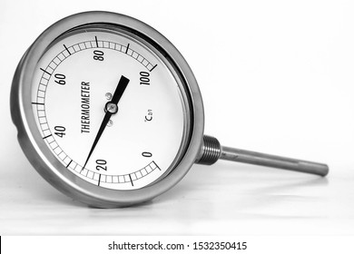 thermometer gauge isolated on white background