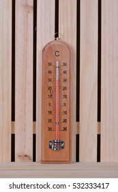 Thermometer on the wood table
