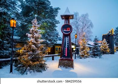 Thermometer in Santa area Lapland