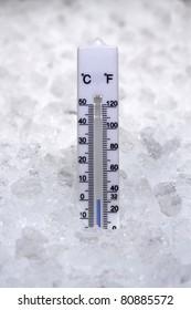Thermometer at zero degrees