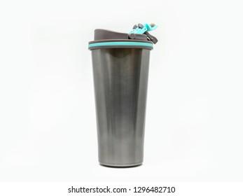Thermos mug isolated on white background