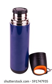 thermos on a white background
