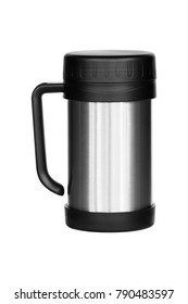 Thermos travel tumbler cup isolated on white background