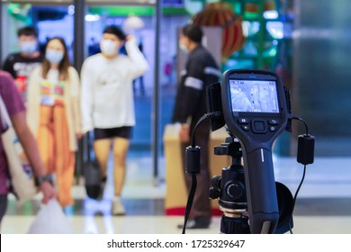 Thermoscan Infrared thernal Camera to install at the entrance of mall . To keep an eye on novel coronavirus or covid 19 infected people , there is a severe outbreak in Wuhan, China,