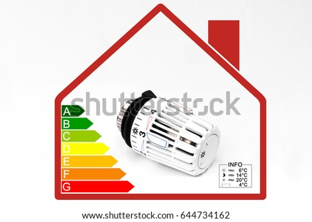 Thermostatic Radiator Valve House Symbol Info Stock Photo (Edit Now ...