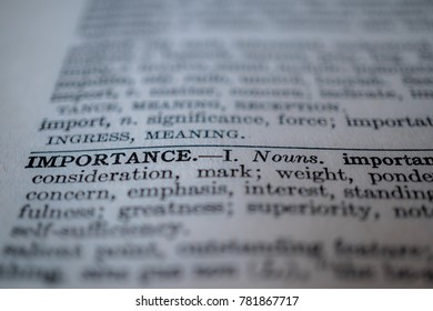 Thesaurus or dictionary definition of importance