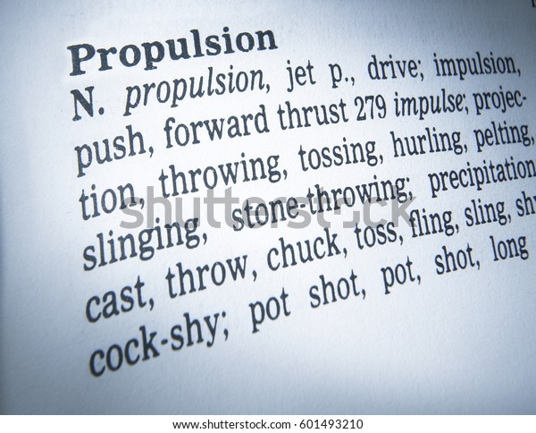 Thesaurus Page Showing Definition Word Propulsion Miscellaneous Stock Image 601493210