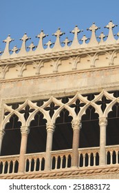 These are the absolutely geourgeous windows of Dodges palace (Palazzo Ducale) in Venice.