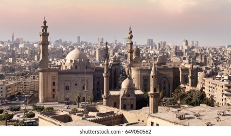 These are the Al Hassan and Al Rifa'i Mosques of Cairo in Egypt, North Africa.