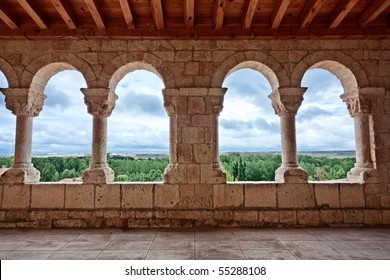 These archs are located at the entrances of the church of Nuestra Senora del Rivero (San Esteban de Gormaz, Soria, Spain). It was built circa 12th century.