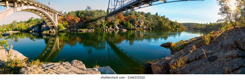 These bridges are historically and technologically significant for several reasons.  One is Folsom Truss Bridge and the other is the Folsom Rainbow Bridge.