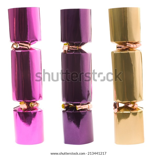 Christmas Crackers Hat.These Christmas Crackers Contain Small Novelty Stock Photo