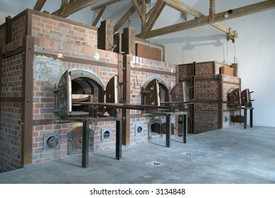 These are the ovens in the crematorium at the Dachau Concentration camp in Germany.