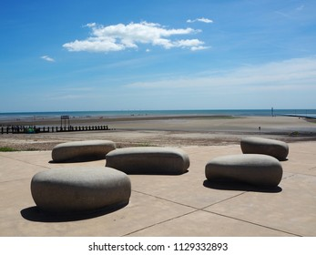 These rocks were added to the river mouth at Littlehampton, West Sussex a couple of years ago, when it was redeveloped.