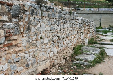 These ruins from Ancient Philippi are from the area known as the Bishop's palace which date as early as the 4th century BC. This site includes residences, storage facilities, and worship areas.