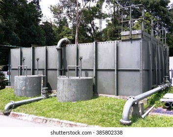 These are sewage sludge consolidation tanks. It is used by wastewater treatment works to minimize the sludge volume and thus effectively cut down the cost of downstream processing and disposal.