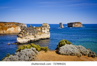 These are some of the limestone cliffs in Victoria, Australia.