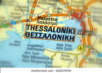 Thessaloniki Greece Map Stock Photos Images Photography