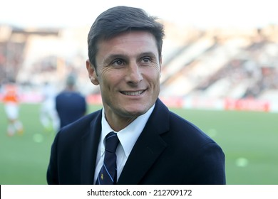 THESSALONIKI, GREECE- AUGUST 14 : Javier Zanetti the Vice-president of Inter before the friendly match Paok vs Inter.