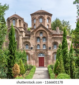 Thessaloniki, Greece - August 16, 2018: Panagia Chalkeon church, Thessaloniki, Greece. Panagia Chalkeon Church was founded in 1028. Thessaloniki.