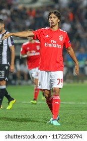 Thessaloniki, Greece - August 29, 2018: Player of Benfica Joao Felix in action during the UEFA Champions League Play-offs , 2nd leg PAOK vs FC Benfica played at Toumba Stadium